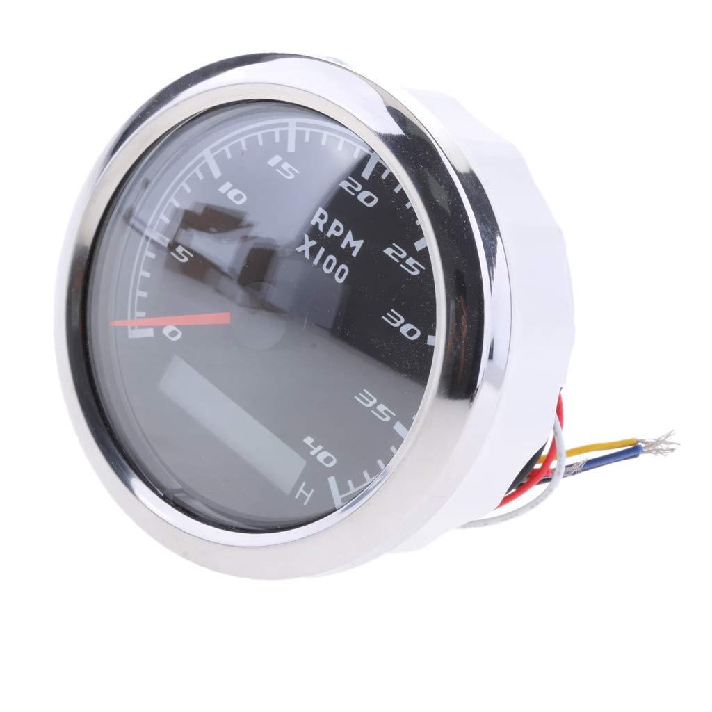 D DOLITY Marine Tachometer LED Stundenz/ähler Digital GPS Tachometer Wasserdicht Auto Car Truck Marine