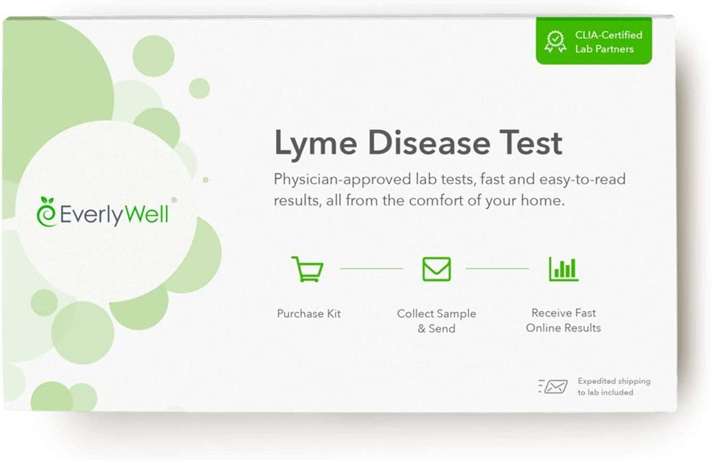 Everlywell Lyme Disease Test - at Home - CLIA-Certified Adult Test - Accurate Blood Analysis - Results Within Days - Not Available in NY, NJ, RI