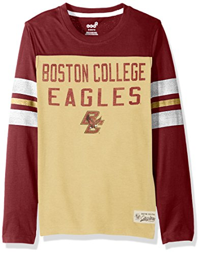 OuterStuff NCAA Boston College Eagles Youth Boys Legacy Long sleeve Crew Tee, L(14-16), Sand Storm