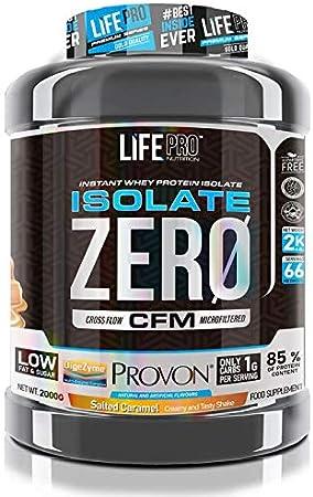 Life Pro Isolate Zero 2Kg | Suplemento Deportivo de Aislado de Proteína de Suero 87%, Mejora Rendimiento Físico y Recuperación, Sabor Salted Caramel, ...