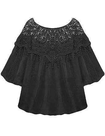 JOLLYCHIC Damen T-Shirt Schwarz Schwarz Small