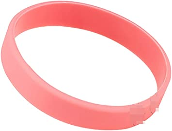 Blanco Pulsera De Silicona Pulseras de goma, rosa: Amazon.es ...