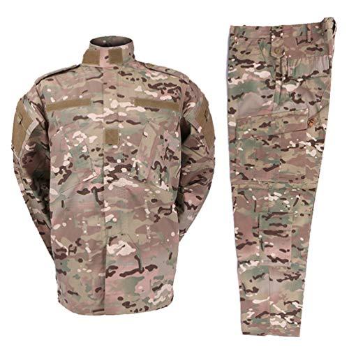 Zhiyuanan Herren Tactical Camouflage Uniform Anzug 2 Stück Sets Outdoor Jagd Trekking Camping Militär Kampf wasserdichte…