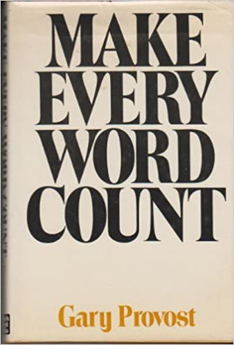 Make Every Word Count Gary Provost 9780898790207 Amazon Com Books
