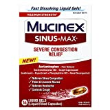 Mucinex Sinus-Max Liquid Gels for Severe Congestion Relief, 16 Count