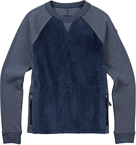 Burton Women's Rolston Crew Sweater, Mood Indigo Heather, Small (Crew Burton Sweater)