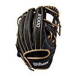 "Wilson A1000 1787 11.75"" Baseball Glove-Right Hand & Throw, Black/Blonde"
