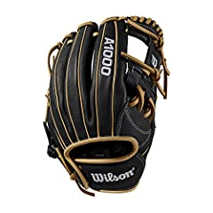 This A1000 1787 will work for you - no matter where you play on the diamond. This black and blonde WTA10RB191787 is popular with middle infielders and third baseman because of a deeper pocket and h-web design. The A1000 Wilson glove line has ...