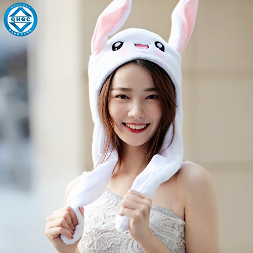 nny Ears Headband, Clothing Accessories, It is very Interesting to Move your Ears Up and Down.QHGC ()
