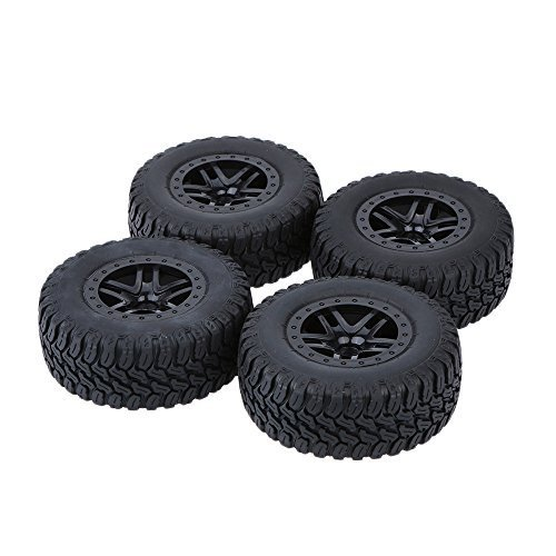 GoolRC 4Pcs/Set 1/10 Short Course Truck Tire Tyres for Traxxas HSP Tamiya HPI Kyosho RC Model Car ()