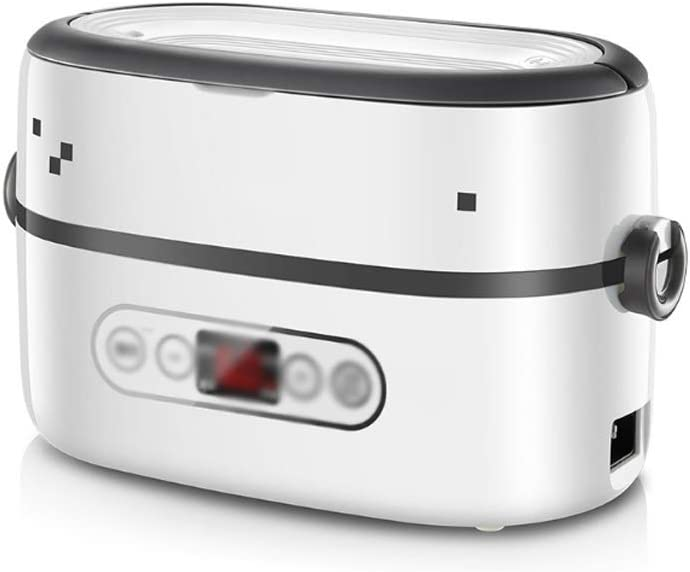 JJZXT Mini portátil de Calentamiento eléctrico arroz automático de Aislamiento Fiambrera enchufable eléctrico Calefacción Fiambrera