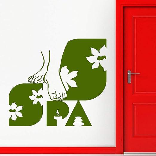 xingbuxin SPA Salon Vinilo Tatuajes de Pared Niñas Salón de ...
