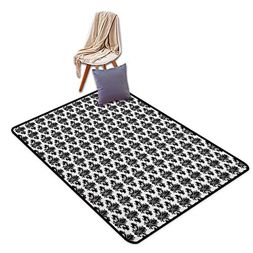 - Custom Door Rugs for Home Rugs Fleur De Lis Monochrome Royal Lily Pattern Victorian Inspiration Ornamental Vintage Design Children's Rug W4'xL6'