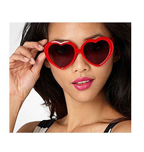 de cœur Rouge nbsp;Fashion soleil Lunettes forme plaque Gris Lady Lunettes en de Yeah67886 zC0qO