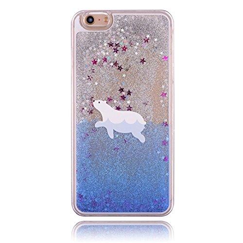 iPhone 7Caso, coverproof Moda Lujo estrellas fluorescentes líquido Arenas movedizas caso mar los animales patrón Cover...