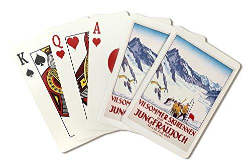 VII Sommer Skirennen auf dem Jungfraujoch Vintage Poster (artist: E.C.) Switzerland c. (1924 Poster)
