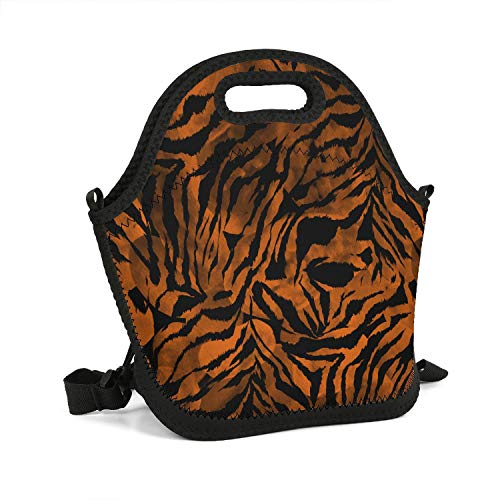Milr Gile Custom Lunch Box Zebra Gradient Tie Dye Colorful Camouflage Resuable Insulated Thermal Tote Lunch Bag - Tie Dye Zebra