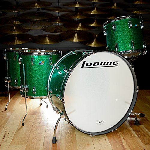 "Ludwig Classic Maple 14/16/18/26 4pc ""Zep"" Drum Kit Green Sparkle"