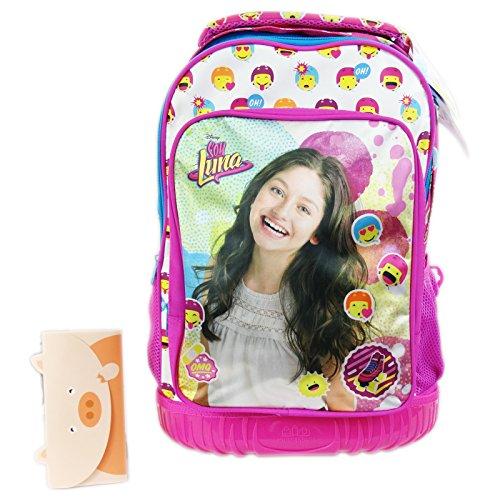 Disney Soy Luna Icons Zaino con Sistema Trolley Scuola Elementare Medie