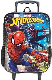 Mala Escolar com Rodas 16, Marvel Homem Aranha, 8670, Preta