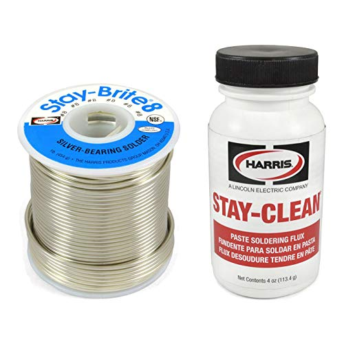 (Harris Solder Kit SB861 & SCPF4 - Stay-Brite #8 Silver Bearing Solder with Flux)