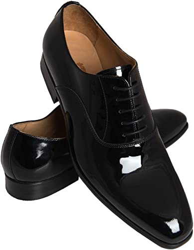 Black Leather Oxford Shoe   Hawes & Curtis