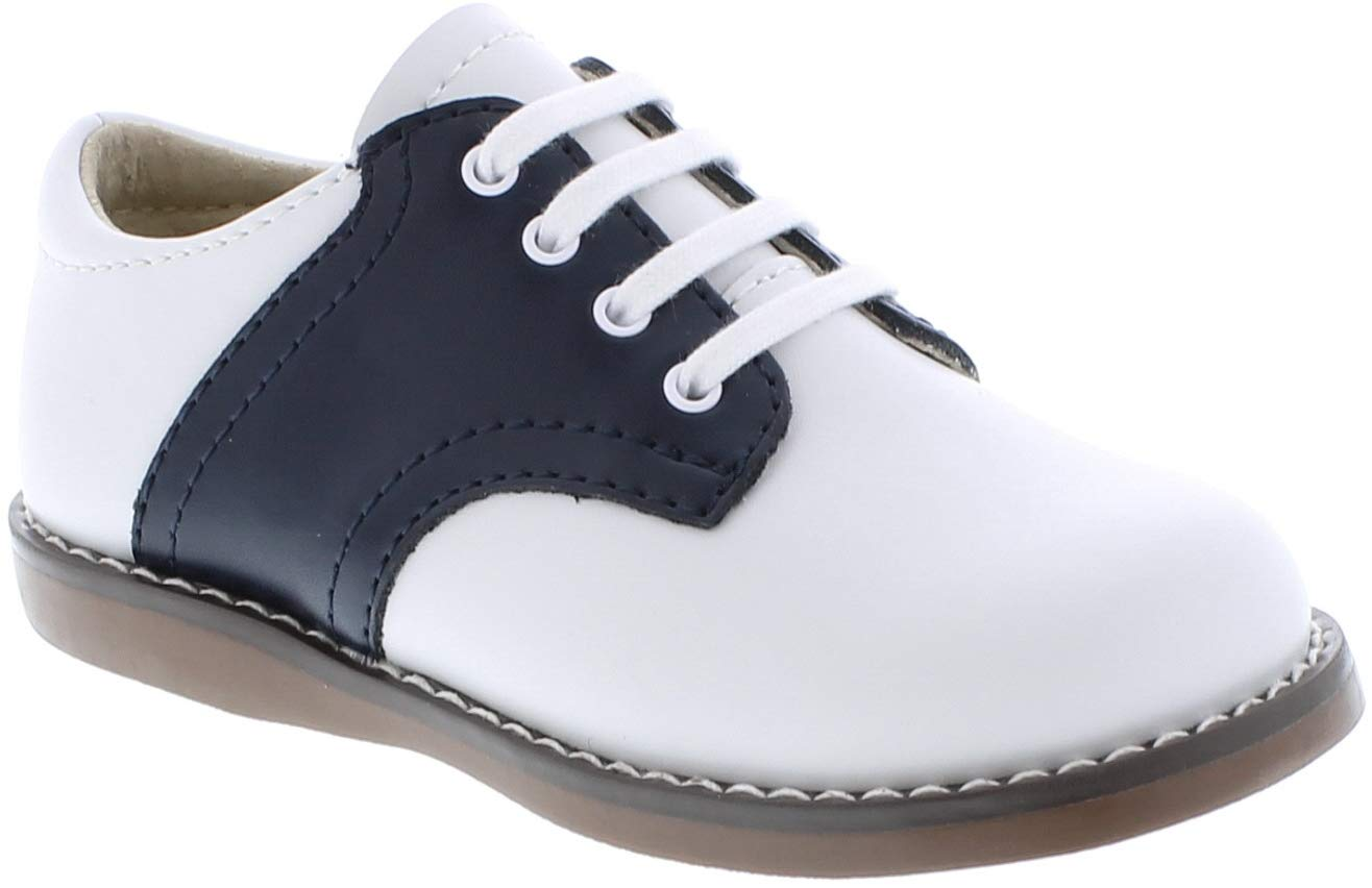 FOOTMATES Cheer Laceup Saddle White/Navy - 8401/13 Little Kid M/W