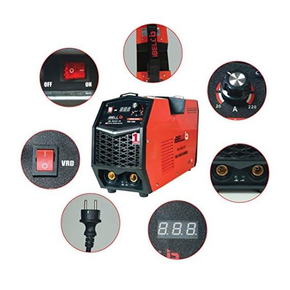 iBELL 220-78 Inverter ARC Multi Metal (SS/IRON/CARBON STEEL/COPPER/ALUMINIUM/ZINC) Welding Machine (IGBT) 220A - 1 Year Warranty 2