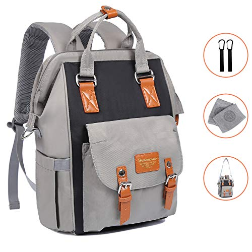 Diaper Bag Backpack-Multifunction Travel Back Pack, Waterproof Maternity Baby Nappy Changing Bags for Mom and Dad, Large Capacity And Stylish, Durable Baby Nappy Bags Organizer for Baby Care - Gray