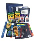 School Supplies Deluxe Bundle. 30 Items (Blue)