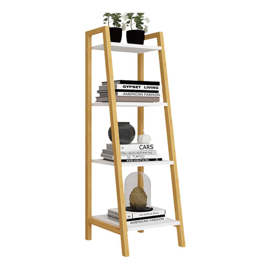 Ladder Shelf 3/4 Tier Bookshelf LibreríA Estante De Almacenamiento Multifuncional De Los Estantes del Almacenamiento del Soporte De Flor Estante Marco De Madera del Acento Muebles Modernos De Oficina