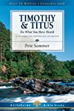 1 and 2 Timothy and Titus, Pete Sommer, 0830830162