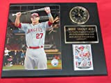 Mike Trout Anaheim Angels Collectors Clock Plaque w/8x10 2015 ALL STAR Photo and Card