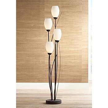 Arbor Cottage Floor Lamp 9 Light Rust Twisted Vine Metal