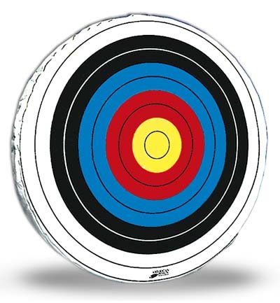 American Whitetail S-36 Round Skirted Archery Target Face, Tyvek Fiber Paper, 36