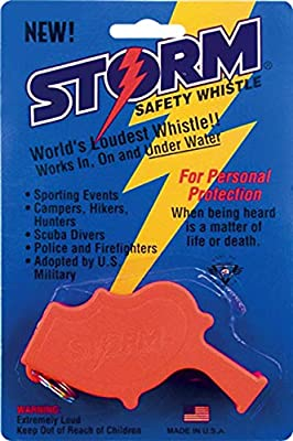 WINDSTORM Safety Whistle BLACK  loudest pack of 6