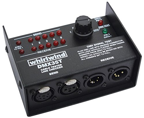 Whirlwind DMX35T 3 and 5 pin XLR DMX Cable Tester - New