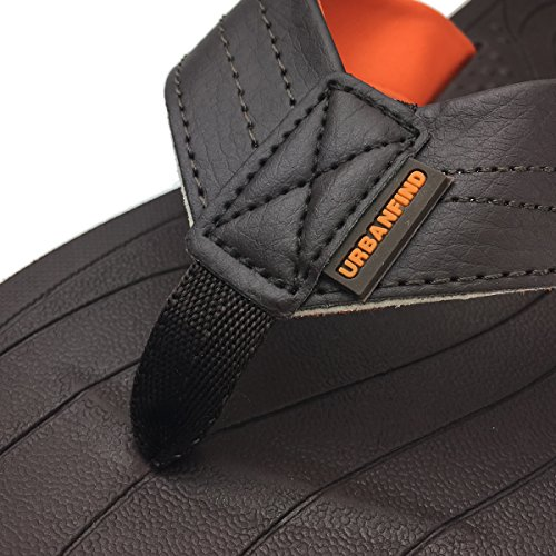 URBANFIND Herren Casual Outdoor & Indoor Flip-Flops Thong Beach Slipper Brauner Stil 1