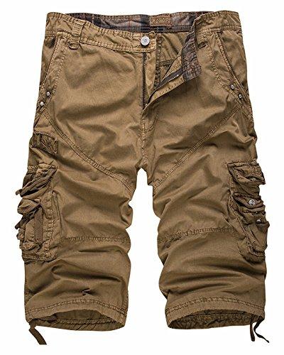 Pants Capri Mens New - CIC Collection Men's Cotton Cargo Capri Shorts