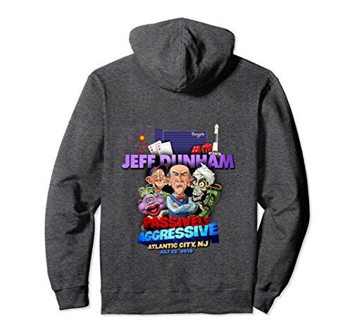 Unisex Jeff Dunham Atlantic City  Nj Hoodie Large Dark Heather