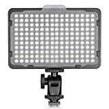 TOLIFO Photo Studio 176 LED Ultra Bright Dimmable On Camera Video Light for Canon - Nikon - Pentax - Panasonic - Sony - Samsung - Olympus and Other Digital SLR Cameras(PT-176S)
