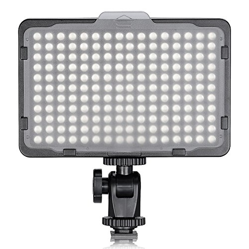 TOLIFO Photo Studio 176 LED Ultra Bright Dimmable On Camera Video Light for Canon,Nikon,Pentax,Panasonic,Sony,Samsung,Olympus and Other Digital SLR Cameras(PT-176S) by TOLIFO