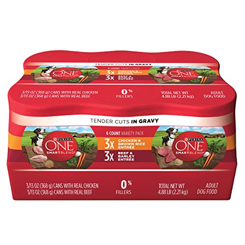 Purina One Smartblend Tender Cuts In Gravy Adult Wet Dog Food Variety Pack - (2 Packs Of 6) 13 Oz. Cans