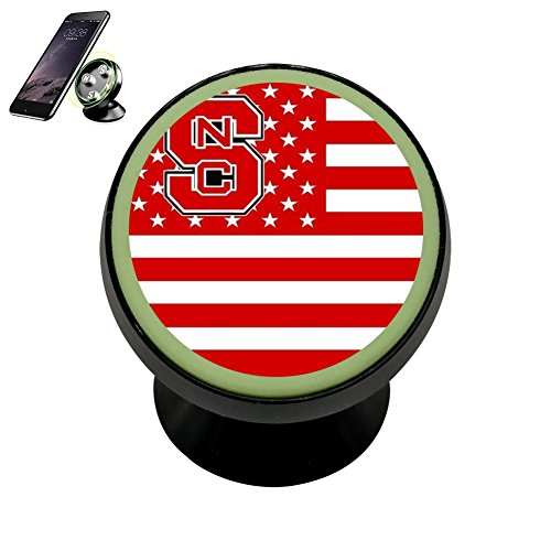 (2018 Nc State Wolfpack Flag Car Magnetic Phone Holder Collapsible Grip Mobile Bracket Car Mount Holder Fits 360 Rotation for iPhone Galaxy and other Universal Smartphones)