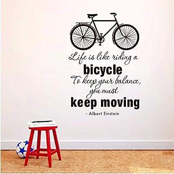 Fxq Wall Stickerla Vida Es Como Montar Una Bicicleta Cita ...