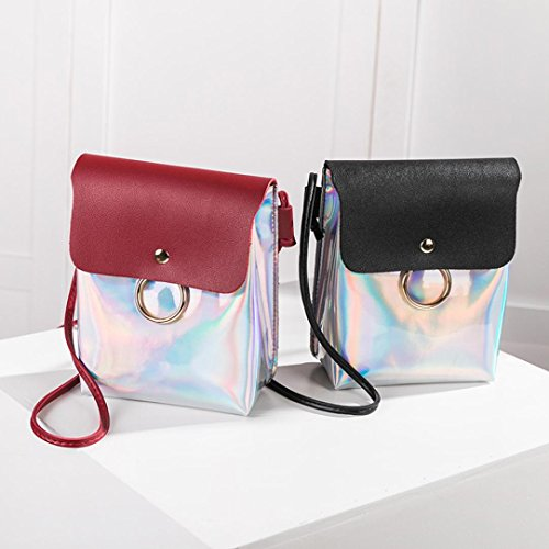 Purse Backpacks Laser Satchel Messenger Ring Tote Handbags Theft Vintage Bag Shoulder Black Anti Clutches Coin Cover Hasp Crossbody Bag Women Girl Phone Purses Strap Bags Bags VEMOW fZxxHC8qwA