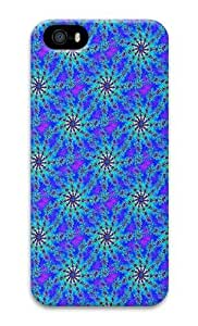 IMARTCASE iPhone 5S Case, Blue Psychedelic Starburst Fractal Background Seamless PC Hard Plastic Case for Apple iPhone 5S and iPhone 5