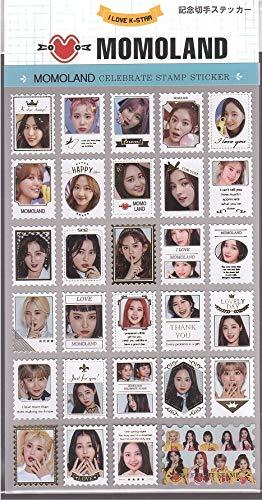 MOMOLANDモモランド写真付【記念切手ステッカー】韓国