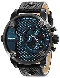 Diesel Men's Little Daddy DZ7334 Black Leather Quartz Watch