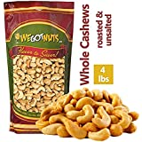 Dry Roasted Unsalted Cashews – Premium Quality Kosher Dry Roasted Cashews By We Got Nuts – No Oil Natural & Healthy Rich Flav